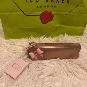 TED BAKER LONDON NWT cosmetic bag pouch with bow